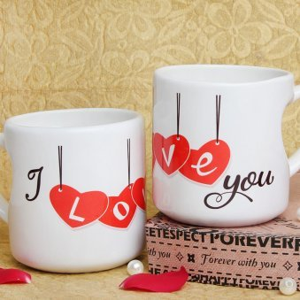 Love You Mug Mug with Both Sided View
