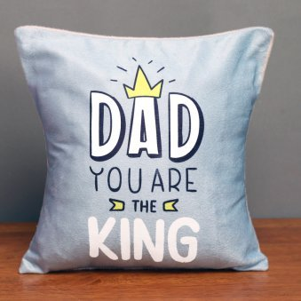 Printed Cushion for Dad the King