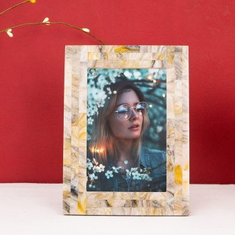 HandCrafted MOP Look Resin Personalised Photo Frame