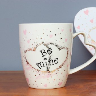 Be Mine Mug with Heart Shaped Handle