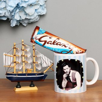 Personalised Mug with Chocolate and a Ship Combo