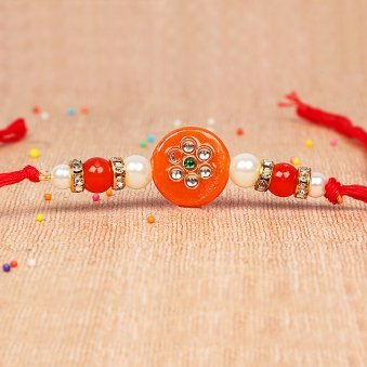 Aesthetic Happiness - Fancy Orange Rakhi