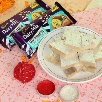 Sweets and Chocolates Bhai Dooj Combo