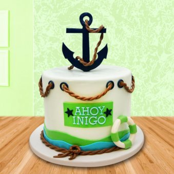 Ahoy Nautical Cake