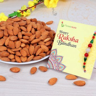 Rakhi with Half Kg Almonds