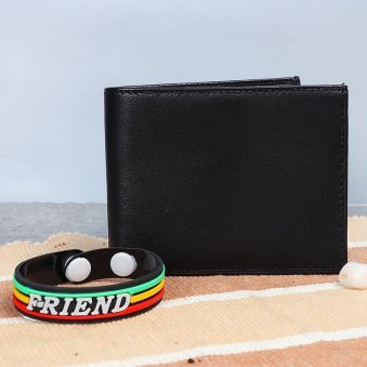 Wallet and Friendship Band Combo