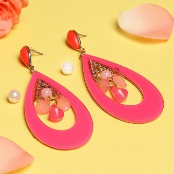 Antique gold plated Drop Earrings