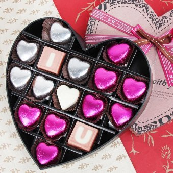 I Love You Heart Shaped Chocolates Gift