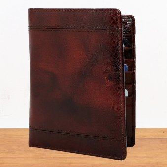 Brown Attractive Leather Passport Wallet