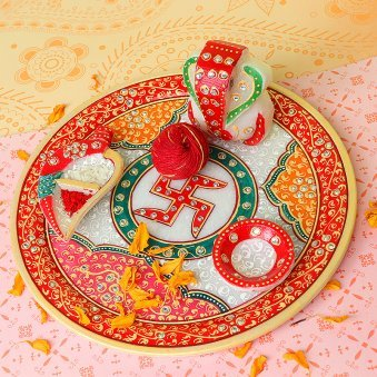 Pooja Thali for Bhai Dooj