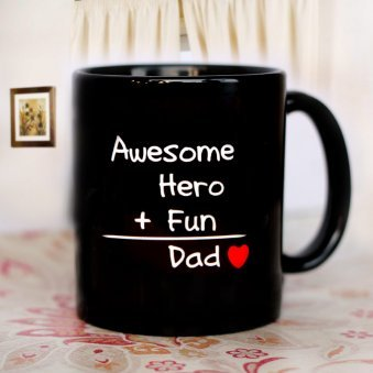 Awesome Dad Recipe Mug with Front Sided View