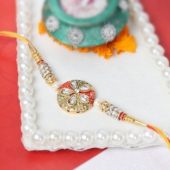 Awesome Kundan Rakhi for Bro