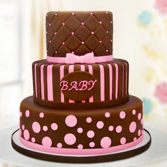 Three tier baby cake