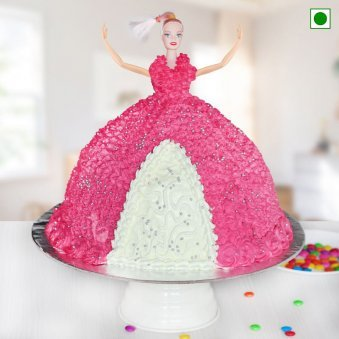 Barbie Birthday Cake - Eggless