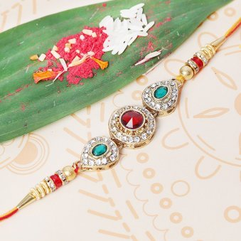 Beautiful Diamond Rakhi for Brother