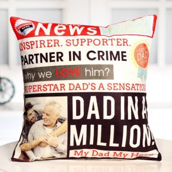 Personalised Printed Cushion For Dad