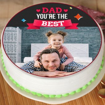 Photo Cake for Best Dad