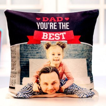 Personalised Cushion for Best Dad