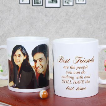 Customized Coffee Mugs for Friends with Both Sided View