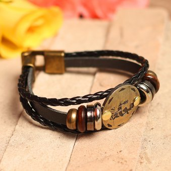 Golden Peacock Black Virgo Sun Shine Unisex Bracelet