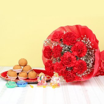 Diwali Gift Set of Pooja Thali&#44