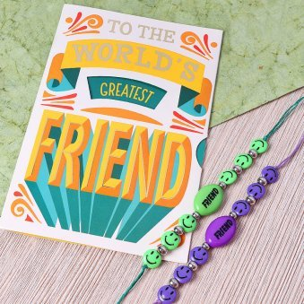 Greeting Card with Band for Friendship Day