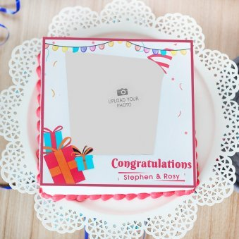 Congratulations Cake - Top View