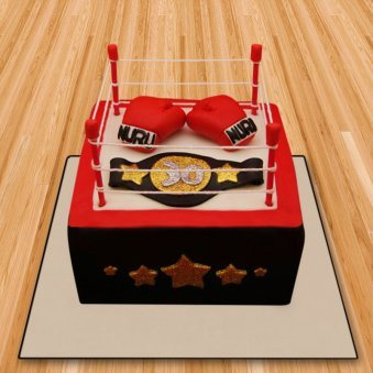 Boxing ring fondnat cake