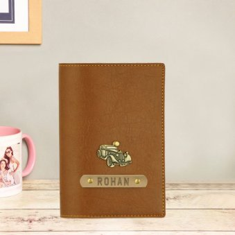 Brown Personalised Passport Cover