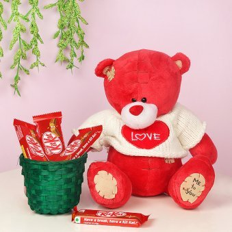 Teddy with Chocolates Combo
