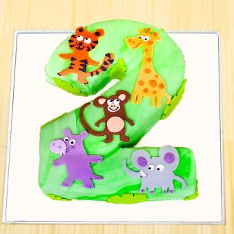 Jungle fondant cake for 2 year old