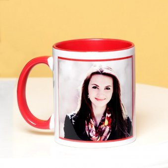 Bunny Love - A Personalised Mug with Back Side View