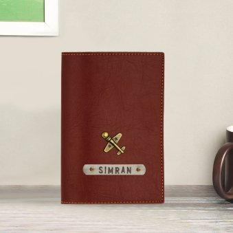 Burgundy Customized Passport Cover