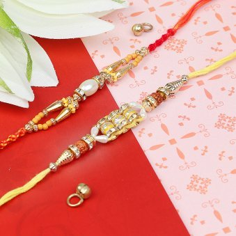 Charming Emotion - A Set of Two Designer Rakhis