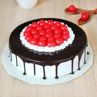 Black Forest Cake With Lots of Cherries