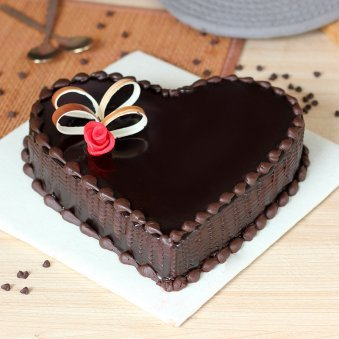 Heart Shape Chocolate Cake