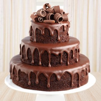 3 tier Chocolate cake - Second gift of Chocolate Temptations