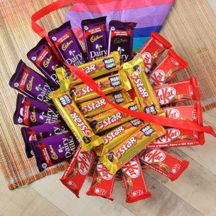 25 Chocolates In A Basket