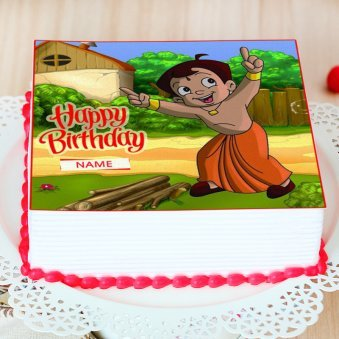 Chota Bheem Photo Cake - Zoom View