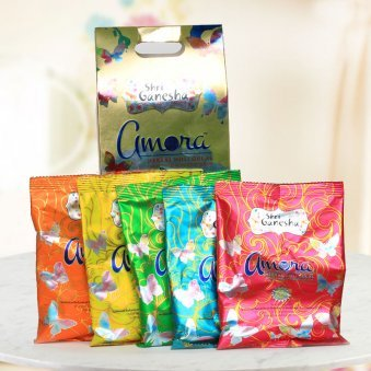 A combo pack of five herbal and vibrant Gulal