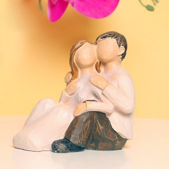 Comforting Love - Figurine of A Couple