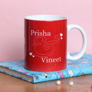 Personalised Mug for Couples with Front Side View