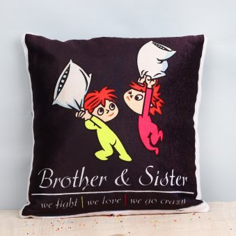 Crazy Siblings Cushion
