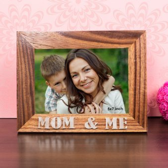 Mom and Me 7X9 Inch Wooden Table Top Photo Frame