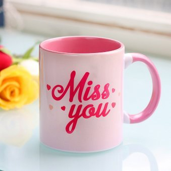 Miss You Printed Mug with Front Side View