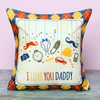 Love You Daddy Printed Cushion for Dad