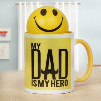 Dads Precious Smile Mug and Smiley Ball