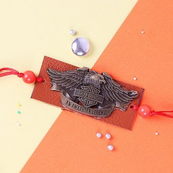 Dashing Harley Davidson Rakhi for Brother