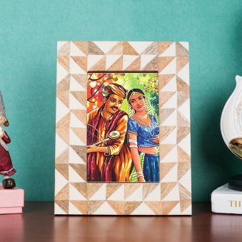 Sheesham Wood Table Top Personalised Photo Frame