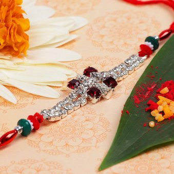 Red Diamond Elegant Rakhi